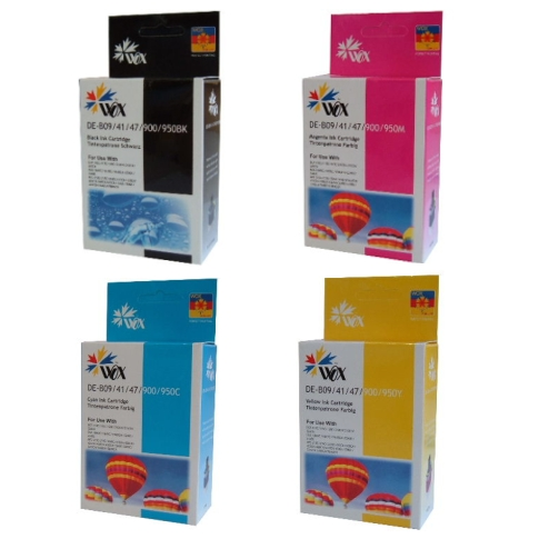 Compatible Brother LC47 Ink Cartridges 8 Pack (2BK/2C/2M/2Y)